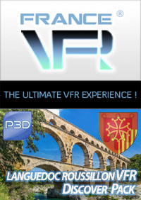 VFR Discover Pack Languedoc-Roussillon pour P3D