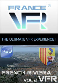 Provence-Alpes-cote d'azur Vol.2 VFR (ouest) pour P3D