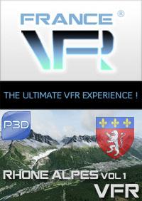 Rhone-Alpes VFR Vol.1 (nord) pour P3D